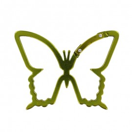 butterfly- shaped carabiner - yellow