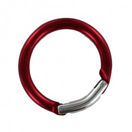 round carabiner - red