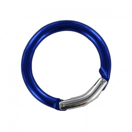 round carabiner - blue