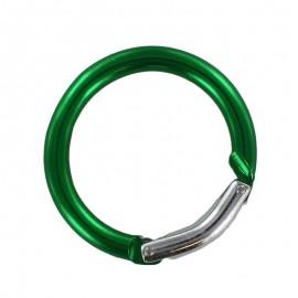 round carabiner - green