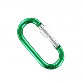 oval carabiner - green