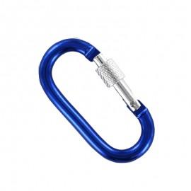 oval carabiner - blue