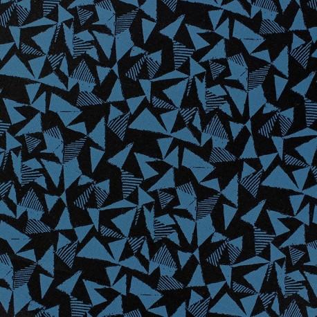 tissu facet bleu canard x 10cm. Black Bedroom Furniture Sets. Home Design Ideas