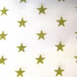 Stars Fabric - Olive / White x 10cm