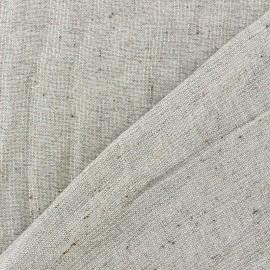 Tissu lainage léger taupe lurex doré x 10cm
