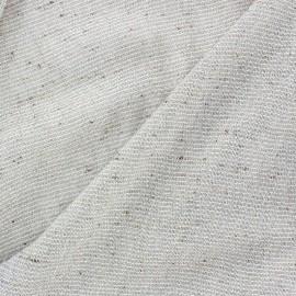 Tissu lainage léger lurex argenté x 10cm