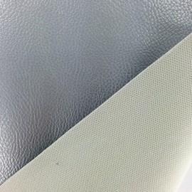 Simili cuir Karia métallisé - Argent x 10cm