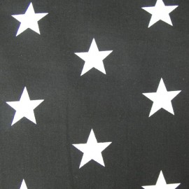 Big Stars Fabric - Black x 10cm