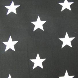 Tissu Grandes étoiles noir x10cm