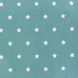 Tissu enduit Etoiles MAGIC blanc / bleu océan x 10cm