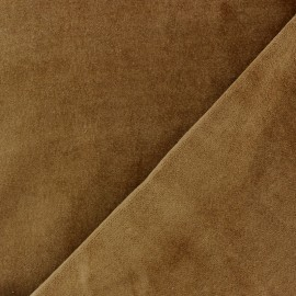 Short Melda velvet fabric - brown x10cm