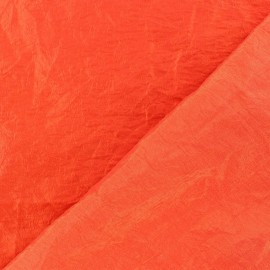 Taffeta Fabric - Orange Red x 10cm