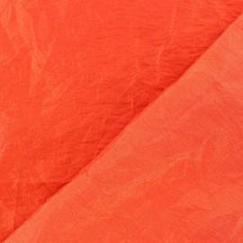 Tissu taffetas uni Rouge orangé x 10cm
