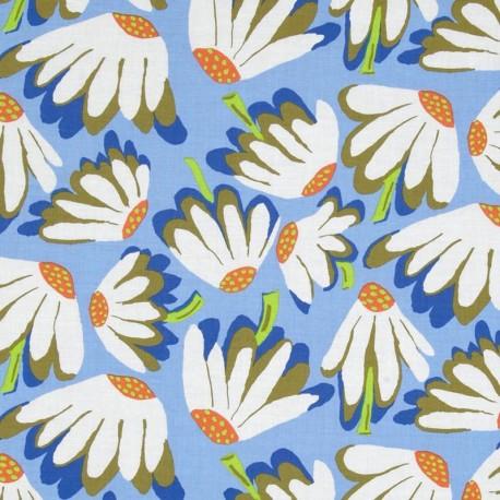 Fabric Spring 2014 - Lazy Daisy - Blue x 10cm