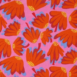 Tissu Spring 2014 - Lazy Daisy Pink x 10cm