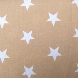 Tissu Grandes étoiles ficelle x10cm