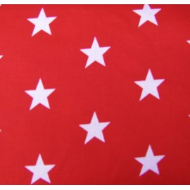 Big Stars Fabric - Red x 10cm