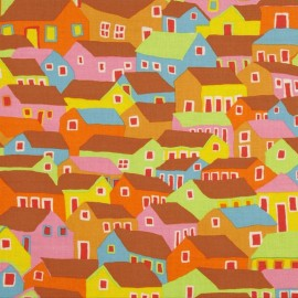 Tissu Spring 2014 - Shanty Town OCHRE x 10cm