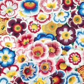 Tissu Spring 2014 - Gloxinias Natural x 62,5 cm