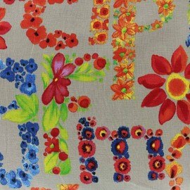 Tissu Poppy Lively Letters écru x 10cm