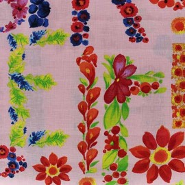 Tissu Poppy Lively Letters rose x 10cm