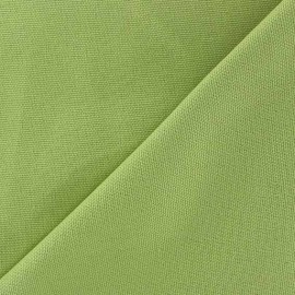 Tissu toile de coton uni CANEVAS Vert lime x 10cm