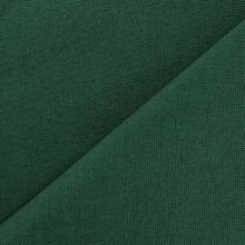 Tissu toile de coton uni CANEVAS Vert prairie x 10cm