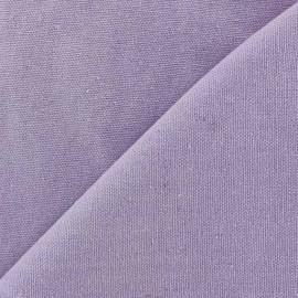 ♥ Coupon 120 cm X 140 cm ♥ Tissu toile de coton uni CANEVAS Parme