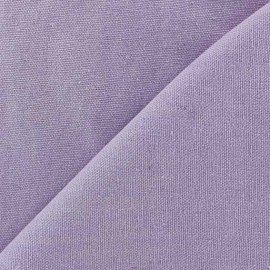 Tissu toile de coton uni CANEVAS Parme x 10cm