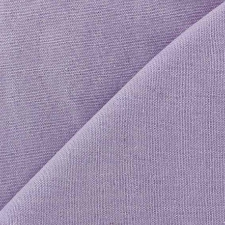 Tissu toile de coton uni CANEVAS V2 Parme