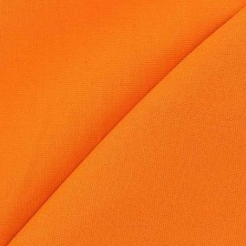 Tissu toile de coton uni CANEVAS Carotte x 10cm