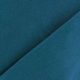 Tissu toile de coton uni CANEVAS Bleu Canard x 10cm
