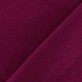 Tissu toile de coton uni CANEVAS Violine x 10cm