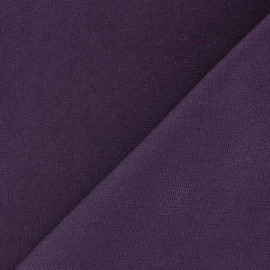 Tissu toile de coton uni CANEVAS  Lie de vin x 10cm