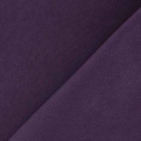 Tissu toile de coton uni CANEVAS V2 Lie de vin x 10cm