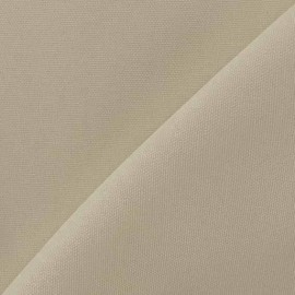 Tissu toile de coton uni CANEVAS Sable clair x 10cm