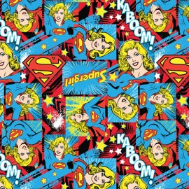 Tissu coton Girl Power II - Supergirl x 20 cm