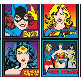 Tissu coton Girl Power II - Action panels x 30 cm
