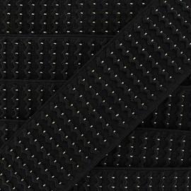 Elastique noir lurex doré x 50cm