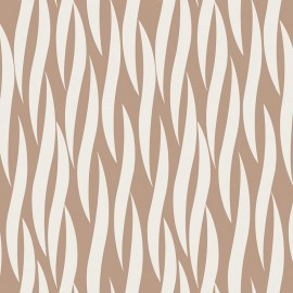 Iconic Cotton Fabric - Ruche in taupe x 10 cm