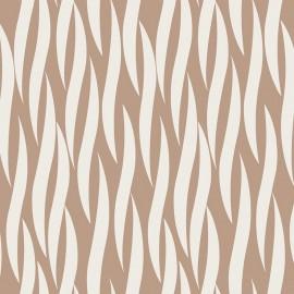 Tissu coton Iconic - Ruche in taupe x 10 cm