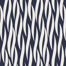 Tissu coton Iconic - Ruche in Navy x 10 cm