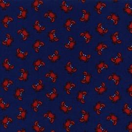 Tissu Mini crabs x 10cm