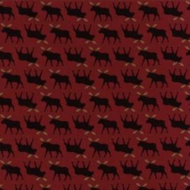 Mini Moose Fabric - Red x 10cm