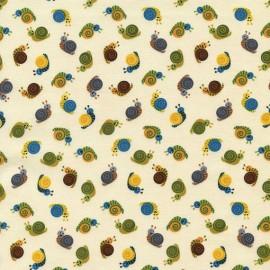 Tissu Mini Snails Cream x 10cm