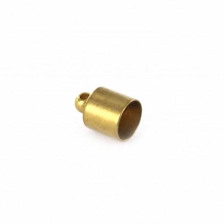 Tassel cord end tip cap for suede pompon suédine - bronze