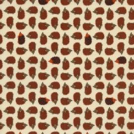 Tissu Mini Hedgehogs Tan x 10cm