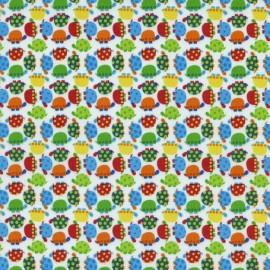 Mini Turtle Flannel Fabric - White x 10cm