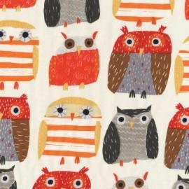 Tissu Dear Stella Owls Beige x 10cm