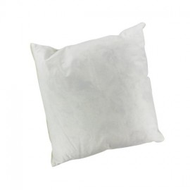 Square-shaped feather-padding 40 cm x 40 cm cushion - white